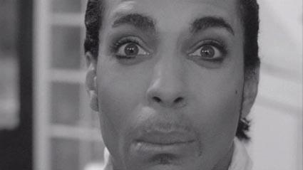 Prince's Bela Lugosi look.