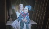 We continue our look at Ghosthouse. Notice the reappearance of the doll, who periodically–by which I mean, every four or five minutes–appears like this with the ghost of this little girl. It's like they assembled the movie from a Spooky...